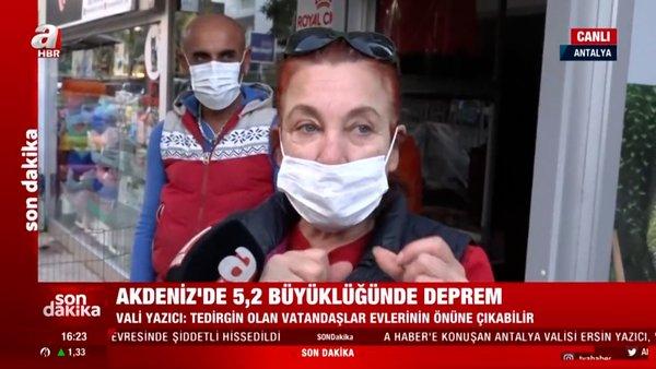 SON DAKİKA! Antalya'da 5,2'lik depremde korku dolu anlar!