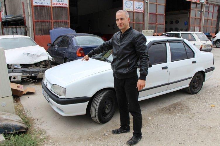 Aldığı arabanın önü 1996, arkası 2000 model çıktı!