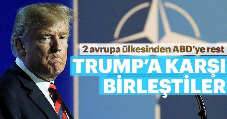 2 Avrupa ülkesinden ABD'ye rest... Trump'a karşı birleştiler...