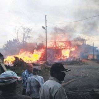 Kastamonu'da 7 ev 3 ambar kül oldu
