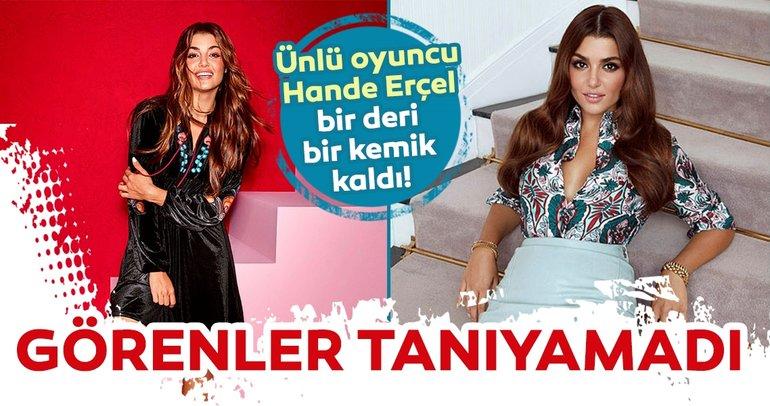 Ünlü oyuncu Hande Erçel sosyal medya gündemine böyle düştü! İşte Hande Erçel'in o görüntüsü…