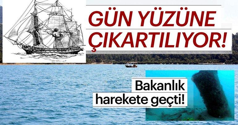 Didim açıklarındaki Osmanlı batığı gün yüzüne çıkartılıyor