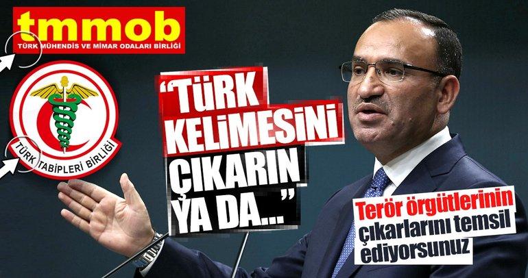 Bozdağ: TTB ve TMMOB Türk ismini çıkarmalıdır