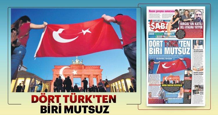 Dört Türk'ten biri mutsuz