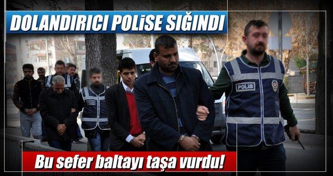 Dolandırıcı polise sığındı!