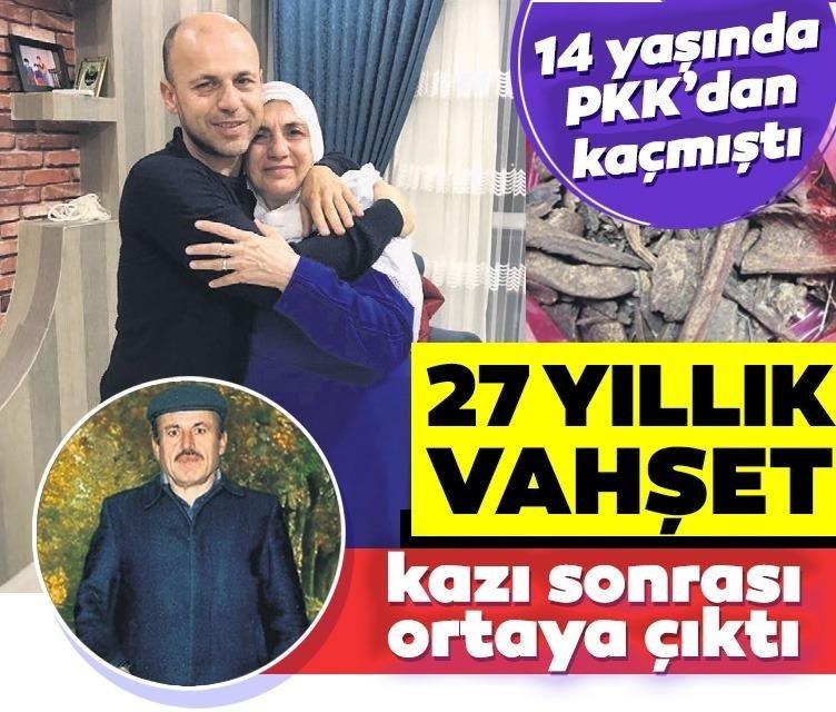 PKK'nın 27 yıllık vahşeti kazıyla ortaya çıktı