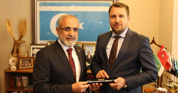 Yalçın Topçu Saraybosna Belediye Başkanı'nı kabul etti