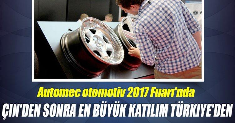 Automec otomotiv 2017 Fuarı'nda Çin'den sonra en büyük katılım Türkiye'den