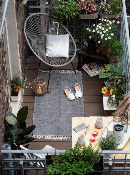 Küçük balkon dekorasyon fikirleri