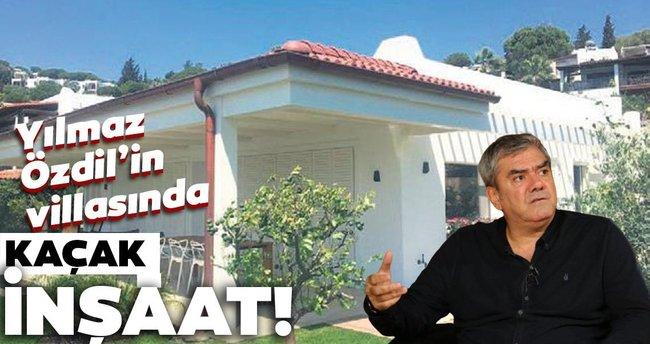 Yılmaz Özdil'in villasında kaçak inşaat - Son Dakika Haberler
