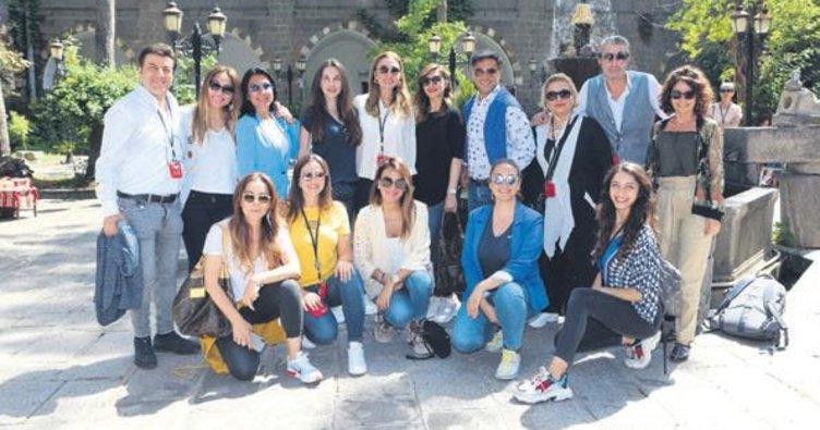 Diyarbakır'ı ünlülerle gezdiler