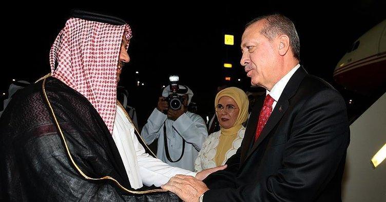 Cumhurbaşkanı Erdoğan Katar'a geldi