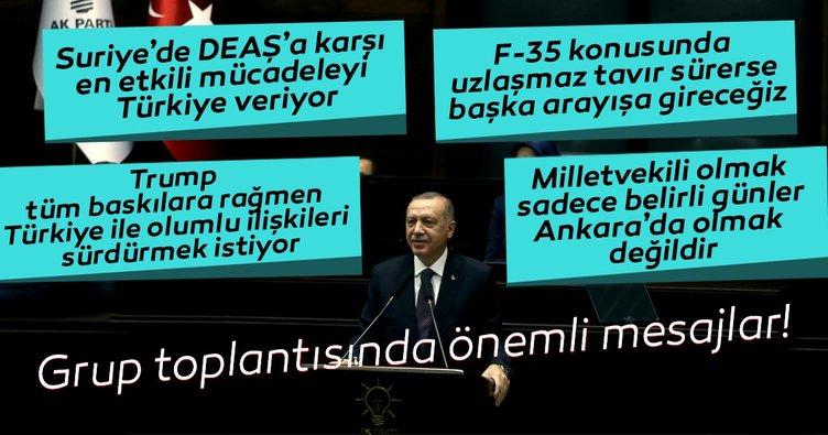 Başkan Erdoğan'dan AK Parti Grup Toplantısında önemli açıklamalar
