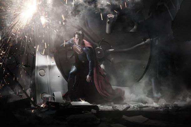 Superman: Çelik Adam filminden kareler