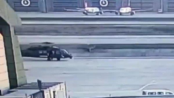 Sabiha Gökçen'deki helikopter kazasının görüntüleri ortaya çıktı | Video