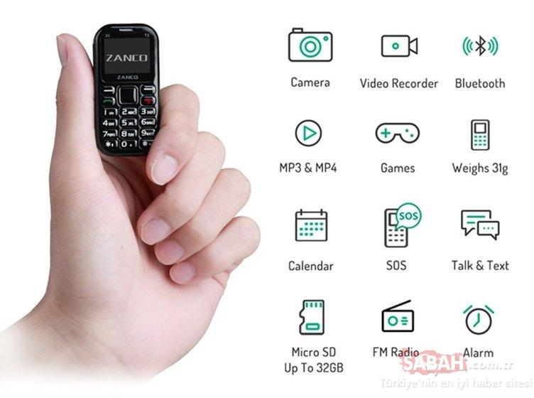 İşte dünyanın en küçük telefonu! Zanco Tiny T2'nin özellikleri...