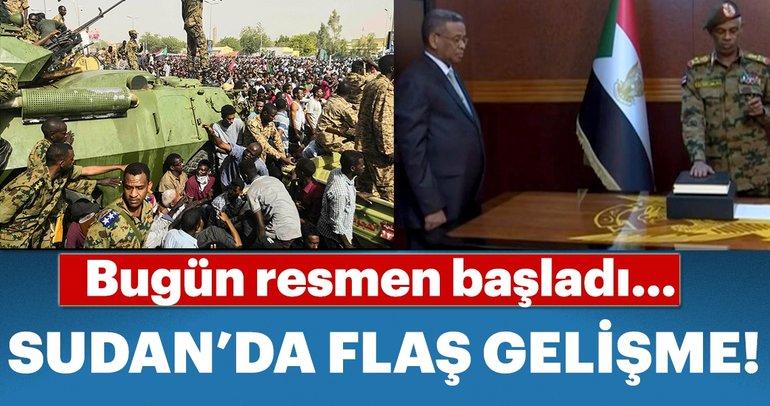 Sudan'da Askeri Geçiş Konseyi Başkanı sıfatıyla yemin ederek göreve başladı