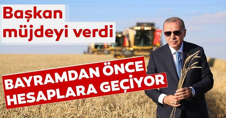 Başkan Erdoğan Geleneksel Hasat Bayramı'nda açıklamalarda bulundu: Bayramdan önce hesaplara geçecek