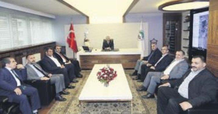 Mustafa Çelik başkanları ağırladı