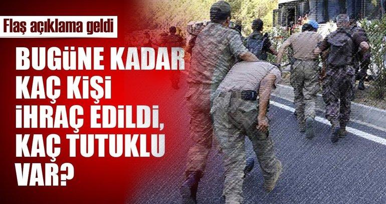 Son dakika: TSK içerisinde FETÖ'den toplam kaç kişi ihraç edildi, kaç kişi tutuklu?