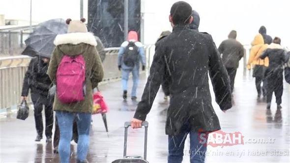 Meteoroloji'den son dakika hava durumu ve kar yağışı uyarısı geldi! Bugün okullar tatil olacak mı?