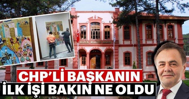 CHP'li başkanın ilk işi Osmanlı izlerini silmek oldu
