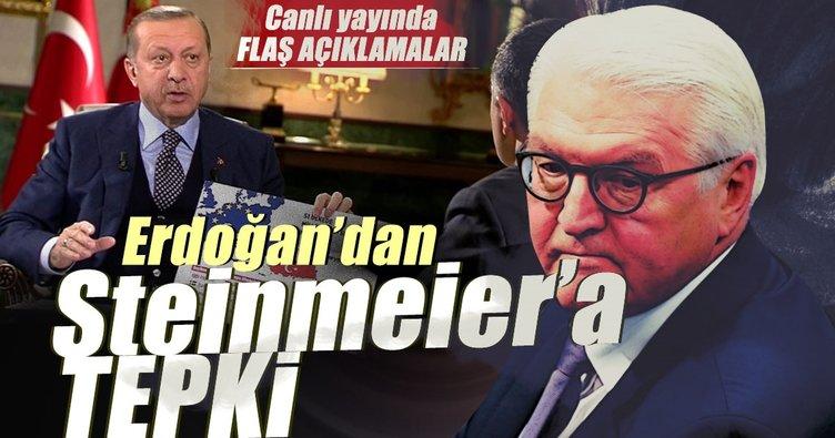 Erdoğan'dan Steinmeier'a tepki: Teessüf ediyorum