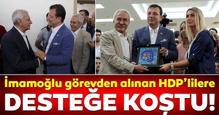 Ekrem İmamoğlu'dan görevden alınan HDP'lilere destek ziyareti!