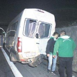 Bursaspor taraftarı kaza yaptı: 10 yaralı