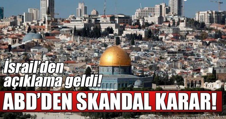 Son Dakika Haberi: İsrail'den flaş açıklama! ABD büyükelçilik binasını...