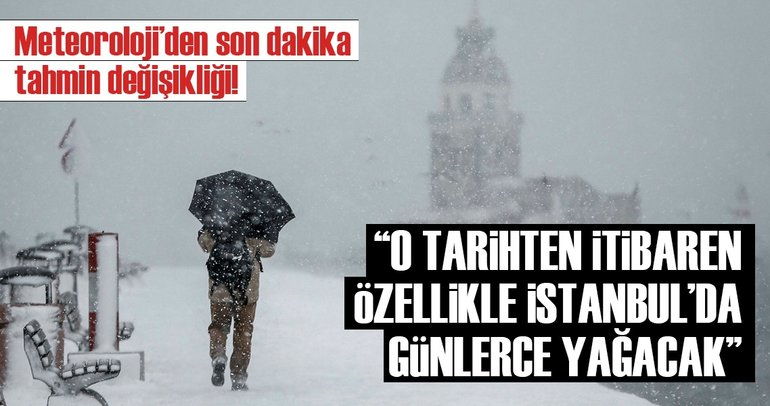 Meteoroloji'den son dakika hava durumu uyarısı geldi! - İstanbul'a ne zaman kar yağacak?