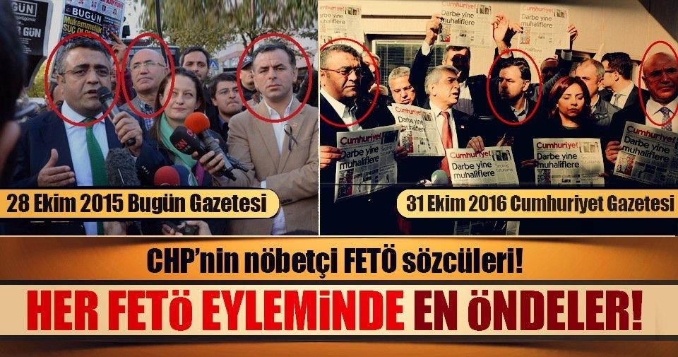 CHP'nin nöbetçi FETÖ sözcüleri - Son Dakika Haberler