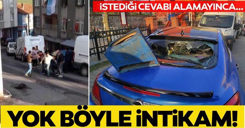 Son dakika: İstanbul Beyoğlu'nda hareketli dakikalar! Dayısının otomobilini parçaladı!