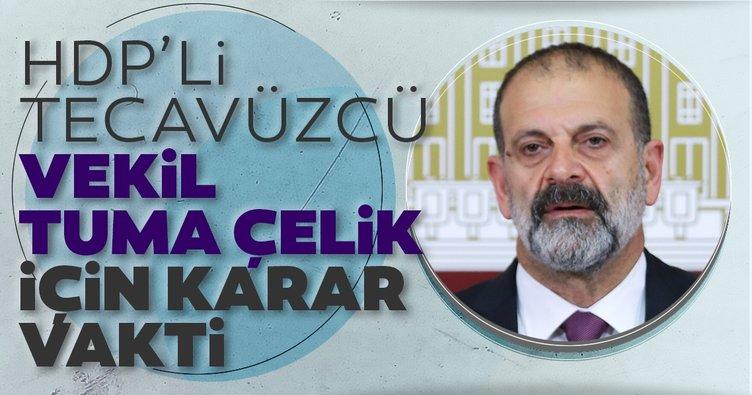 HDP'li tecavüzcü vekil Tuma Çelik için karar vakti!