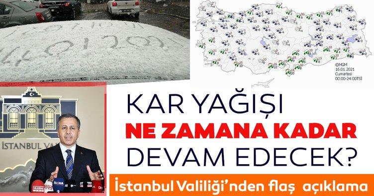 Son dakika: İstanbul Valiliği'nden kar yağışı ile ilgili flaş açıklama