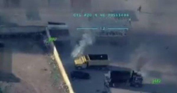 Afrin'de teröristler sivillerin kaçışını engellemek için her yolu deniyor! İşte o görüntüler