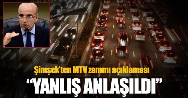 Mehmet Şimşek'ten son dakika MTV zammı açıklaması
