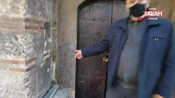 Bursa'da 550 yıllık türbenin duvarlarına yazılanlar, tepki topladı
