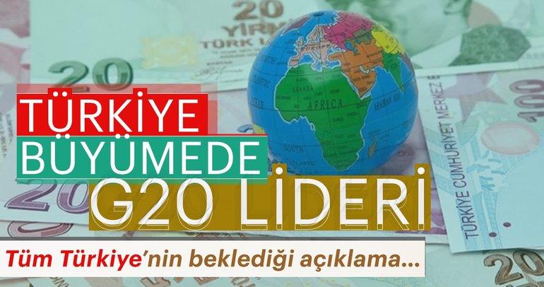 Son dakika: Türkiye büyümede G-20 lideri