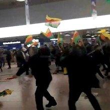 PKK destekçileri yolculara saldırdı