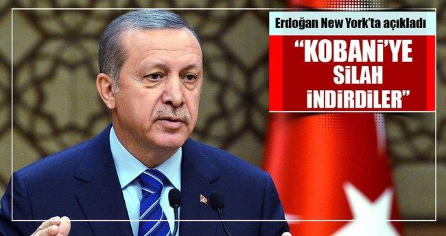 Cumhurbaşkanı Erdoğan: ABD Kobani'ye silah indirdi