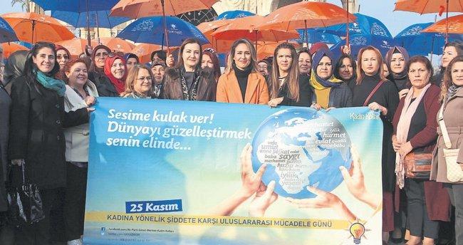AK Partili kadınlar 'şiddete hayır' dedi