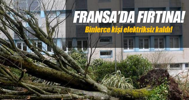 Fransa'da fırtına binlerce haneyi elektriksiz bıraktı