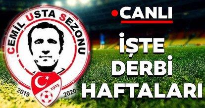 2019-2020 Spor Toto Süper Lig sezonu fikstür çekimi yapıldı! İşte derbi haftaları