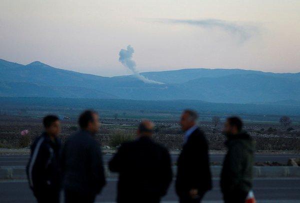 Yabancı ajanslar Afrin Operasyonu'nu bu fotoğraflarla duyurdu