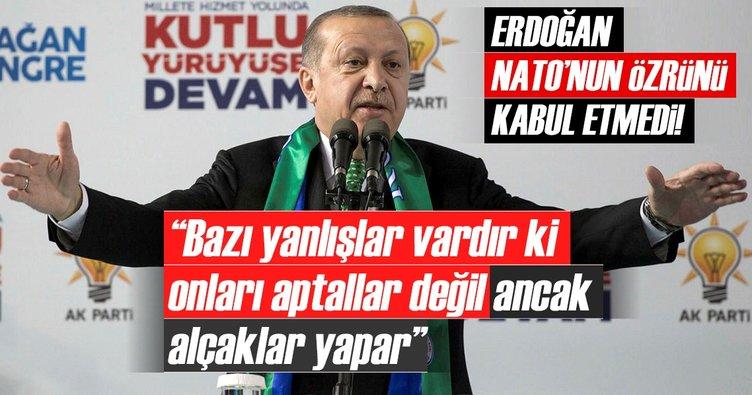 Cumhurbaşkanı Erdoğan'dan NATO tatbikatındaki skandalla ilgili sert sözler