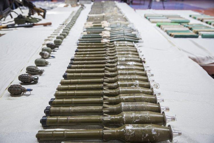 Sur'da çok sayıda mühimmat ele geçirildi