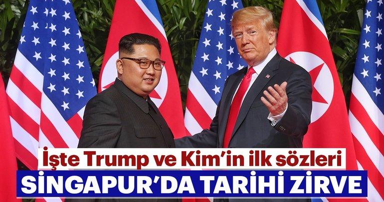 Son dakika: Donald Trump-Kim Jong Un Zirvesi gerçekleşti