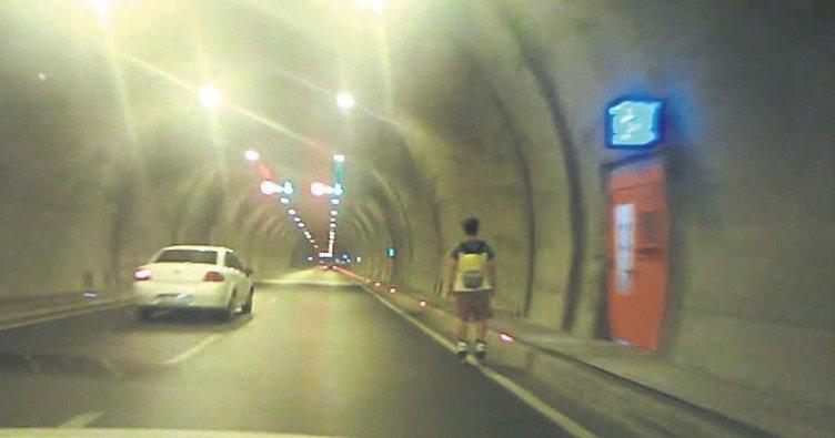 Tünelde patenle tehlikeli yolculuk