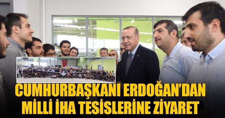Cumhurbaşkanı Erdoğan'dan Milli İHA tesislerini ziyaret